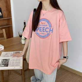 カジュアル プリント 半袖Tシャツ 8106 (PNK)