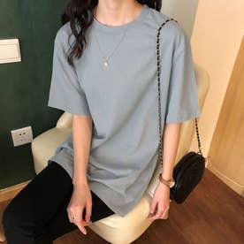 ベーシック シンプル半袖Tシャツ 8108 (BLU)