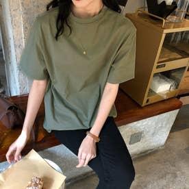ベーシック シンプル半袖Tシャツ 8108 (GRN)
