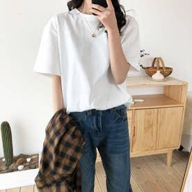 ベーシック シンプル半袖Tシャツ 8108 (WHT)