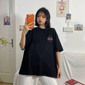 フロントプリントTシャツ 8233 (BLK)