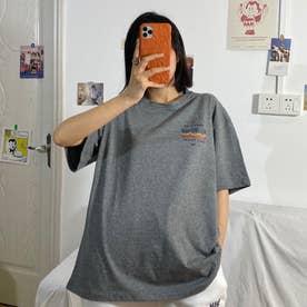 フロントプリントTシャツ 8233 (GRY)
