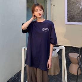 ワンポイントプリント Tシャツ 8231 (NVY)
