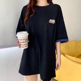 アメカジプリント Tシャツ 8232 (BLK)