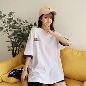 アメカジプリント Tシャツ 8232 (WHT)