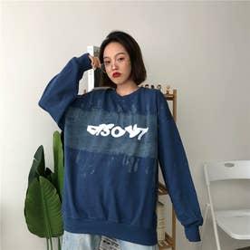 カジュアルプリント ロングTシャツ 8229 (NVY)