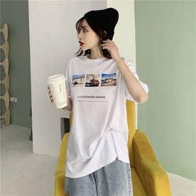 フォトプリント Tシャツ 8227 (WHT)