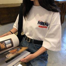 カジュアルプリントTシャツ 6164 (WHT)