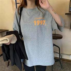 オーバーサイズ ロゴプリントTシャツ 8268 (GRY)
