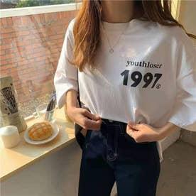 オーバーサイズ ロゴプリントTシャツ 8268 (WHT)