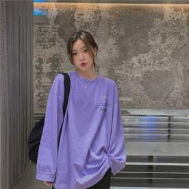 バック・フロントレタリングロングTシャツ 8328 (PPL)