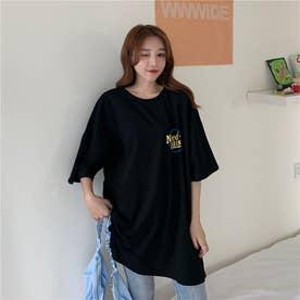 フロント・バックプリントTシャツ 8359 (BLK)