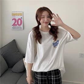 フロント・バックプリントTシャツ 8359 (WHT)