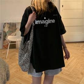 フロント・バックプリントTシャツ 8379 (BLK)
