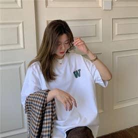 バック・フロントプリントTシャツ 8389 (WHT)