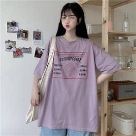 イラストプリントTシャツ 8399 (PPL)