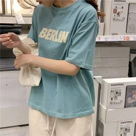 フロントロゴプリントTシャツ 8388 (BLU)
