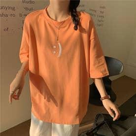 フロント刺繍・バックレタリングプリントTシャツ 8396 (ORG)
