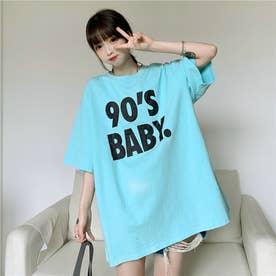 BIGロゴプリントTシャツ 8402 (BLU)