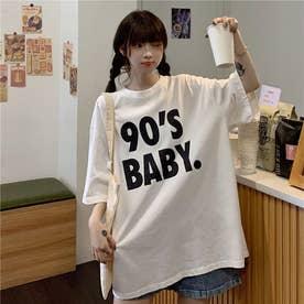 BIGロゴプリントTシャツ 8402 (WHT)