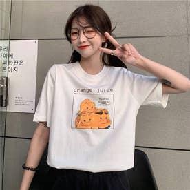 イラストプリント cuteTシャツ 8397 (WHT)