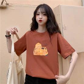 イラストプリント cuteTシャツ 8397 (ORG)