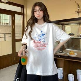 レトロプリントTシャツ 8400 (WHT)