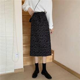 レオパード柄 スカート 7973 (GRY)