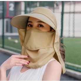 フェイスマスク付きUVキャップ 8435 (BEG)