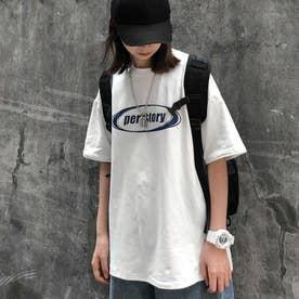 フロントロゴTシャツ 8490 (WHT)