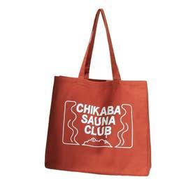 【CHIKABA SAUNA CLUB】 トートバック (オレンジ)