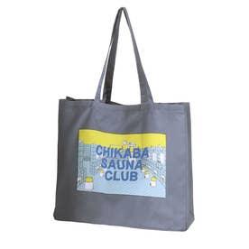 【CHIKABA SAUNA CLUB】 トートバック (ブルー系)