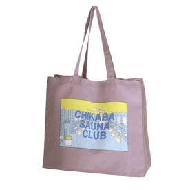 【CHIKABA SAUNA CLUB】 トートバック (パープル系)