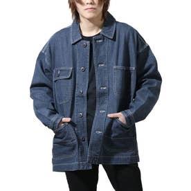 スラブデニムワークジャケット (ブルー)