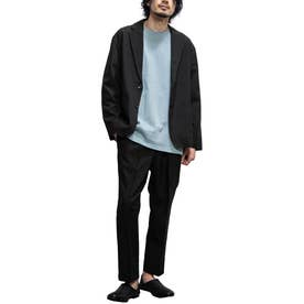 【2021 SPRING】ポリトロ 2Bテーラードジャケット&アンクルパンツ リラックスフィット セットアップ (ブラック)