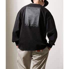 【別注・コラボ】ZIP FIVE×KANGOL 同色バックロゴ バルーンスリーブ ビッグシルエット ロンT 長袖Tシャツ【2021 SPRING】 (ブラック)