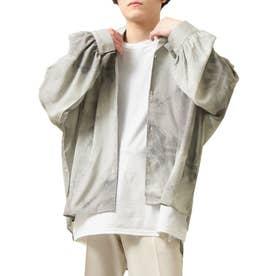 バルーンスリーブビックシルエット長袖オープンカラーシャツ (ベージュ系2)