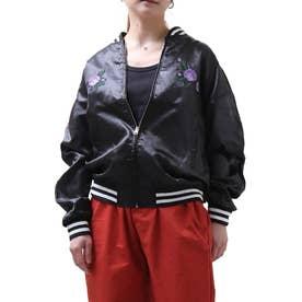 刺繍スカジャン (ブラック×ブラック)