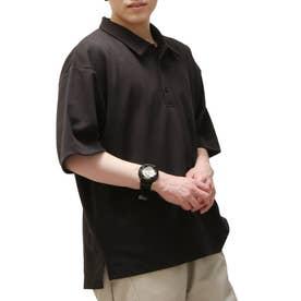 T/Cポンチポロシャツ (ブラック)