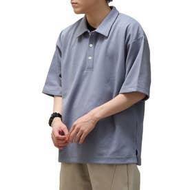 T/Cポンチポロシャツ (ブルーグレー)