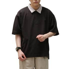 T/Cポンチポロシャツ (ブラック×グレー)