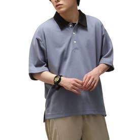T/Cポンチポロシャツ (ブルー)