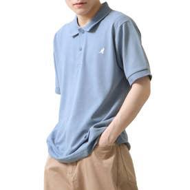 【別注・コラボ】ZIP FIVE×KANGOL 鹿の子ワンポイント刺繍ポロシャツ (ブルー)