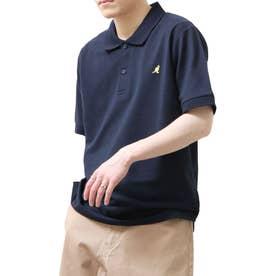 【別注・コラボ】ZIP FIVE×KANGOL 鹿の子ワンポイント刺繍ポロシャツ (ネイビー)