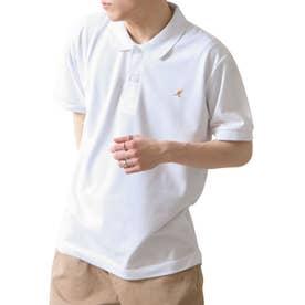 【別注・コラボ】ZIP FIVE×KANGOL 鹿の子ワンポイント刺繍ポロシャツ (ホワイト)