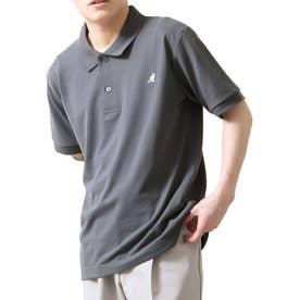【別注・コラボ】ZIP FIVE×KANGOL 鹿の子ワンポイント刺繍ポロシャツ (チャコール)