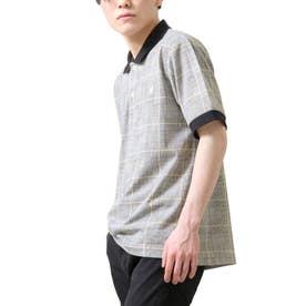 【別注・コラボ】ZIP FIVE×KANGOL 鹿の子ワンポイント刺繍ポロシャツ (グレー)