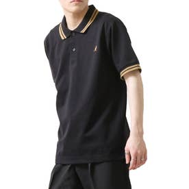 【別注・コラボ】ZIP FIVE×KANGOL 鹿の子ワンポイント刺繍ポロシャツ (ブラック)