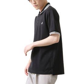 【別注・コラボ】ZIP FIVE×KANGOL 鹿の子ワンポイント刺繍ポロシャツ (ブラック×ホワイト)
