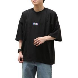 ASOBIプリントBIG Tシャツ【ユニセックス】 (ブラック)